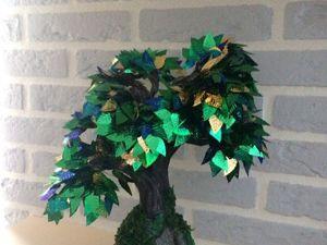 Мастерим дерево из пайеток (фото мастер-класс). Ярмарка Мастеров - ручная работа, handmade.