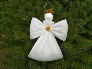 Как сделать воздушного ангелочка из бумаги просто и быстро. Ярмарка Мастеров - ручная работа, handmade.