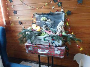 Мастер-класс: рождественская зона из чемоданов. Ярмарка Мастеров - ручная работа, handmade.