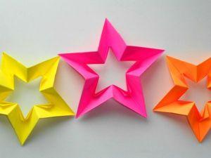 Мастерим звезду из бумаги ко Дню Победы. Ярмарка Мастеров - ручная работа, handmade.