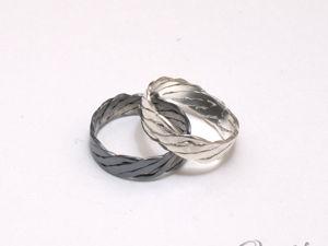 Кольцо-жгут из серебра. Ярмарка Мастеров - ручная работа, handmade.