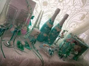 Видео мастер-класс: декорируем свадебную бутылку. Ярмарка Мастеров - ручная работа, handmade.