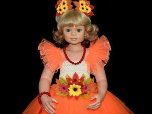 Нарядное платье для девочки из фатина  «Яркая осень». Ярмарка Мастеров - ручная работа, handmade.