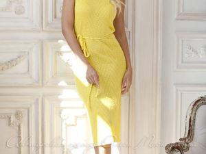 Видео-ролик, платье  «Желтая земляника». Ярмарка Мастеров - ручная работа, handmade.