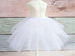 Делаем нижнюю юбку из фатина для кукол. Ярмарка Мастеров - ручная работа, handmade.