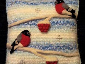 Создание вязаной подушки с объемной аппликацией. Ярмарка Мастеров - ручная работа, handmade.