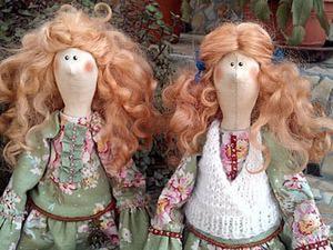 Делаем причёску для куклы из овечьей шерсти. Ярмарка Мастеров - ручная работа, handmade.