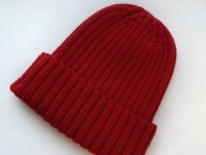 Вяжем шапку-резинку с небанальной макушкой. Часть 2. Ярмарка Мастеров - ручная работа, handmade.