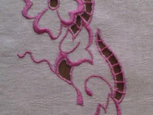 Учимся вышивать в технике «ришелье» вручную. Ярмарка Мастеров - ручная работа, handmade.