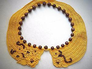 Вяжем крючком ожерелье-воротничок. Ярмарка Мастеров - ручная работа, handmade.