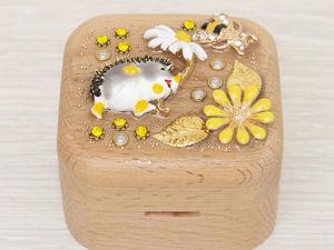 Шкатулка для колец  «Ёжик» . Оригинальный подарок. Ярмарка Мастеров - ручная работа, handmade.
