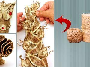 6 идей для декоративной вазы из джута. Ярмарка Мастеров - ручная работа, handmade.