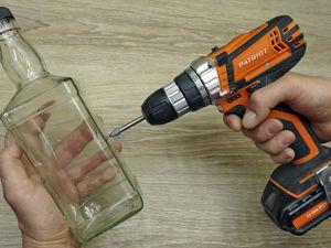 Как просверлить стеклянную бутылку, кафельную плитку или стекло: видео мастер-класс. Ярмарка Мастеров - ручная работа, handmade.