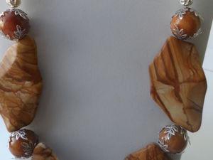 Новый комплект украшений ; «Яшма пейзажная». Ярмарка Мастеров - ручная работа, handmade.