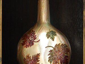 Частичка золотой осени в нашем доме, или Декорируем стеклянную бутылку «Листопад». Ярмарка Мастеров - ручная работа, handmade.