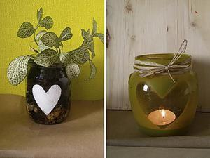 Легко и просто: декорируем стеклянные баночки. Ярмарка Мастеров - ручная работа, handmade.