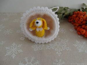 Вяжем елочное украшение «Полусфера» со щенком. Ярмарка Мастеров - ручная работа, handmade.