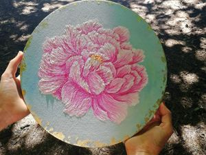 Нежная картина  «Peony tenderness»  маслом. Ярмарка Мастеров - ручная работа, handmade.