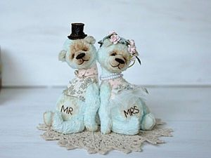 How to Sew a Wedding Teddy Bear Couple. Livemaster - handmade