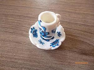 Мастер-класс: миниатюрная чайная пара в стиле гжель. Ярмарка Мастеров - ручная работа, handmade.