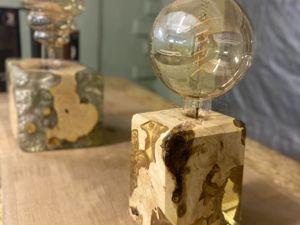 Светильник из эпоксидной смолы. Ярмарка Мастеров - ручная работа, handmade.