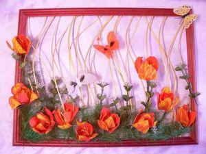 Изготавливаем цветок тюльпана из гофрированной бумаги. Ярмарка Мастеров - ручная работа, handmade.