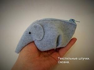 Оригинальный кошелёк «Слон». Ярмарка Мастеров - ручная работа, handmade.