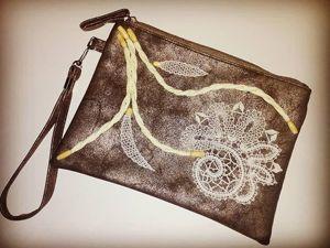 Декор сумочки кружевом. Ярмарка Мастеров - ручная работа, handmade.