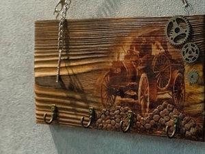 Декупаж ключницы из доски. Ярмарка Мастеров - ручная работа, handmade.
