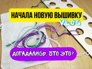 Вышивальный Vlog. Начала новую работу. Догадаетесь, что это?. Ярмарка Мастеров - ручная работа, handmade.