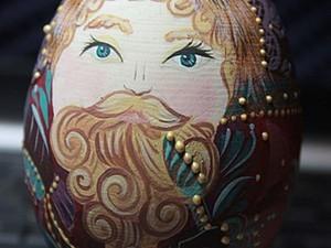 """Роспись деревянной игрушки """"Дед Мороз"""". Ярмарка Мастеров - ручная работа, handmade."""