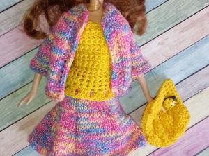 Комплект одежды для кукол  Барби  «Радужный». Ярмарка Мастеров - ручная работа, handmade.