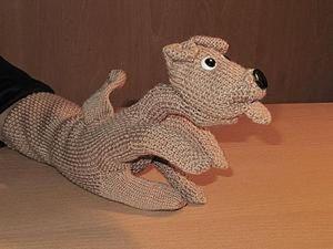 Собачка на руку из перчаток своими руками. Ярмарка Мастеров - ручная работа, handmade.