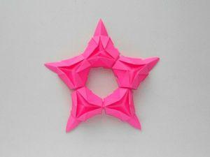 Создаем звезду из бумаги. Уроки оригами. Ярмарка Мастеров - ручная работа, handmade.