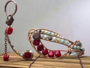 Комплект «Дно морское»: мастер-классы по созданию плетеного браслета и оригинального брелка. Ярмарка Мастеров - ручная работа, handmade.