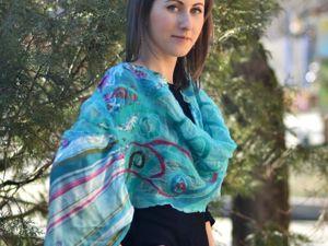 МК про весенние шарфики — круглая цифра. Ярмарка Мастеров - ручная работа, handmade.