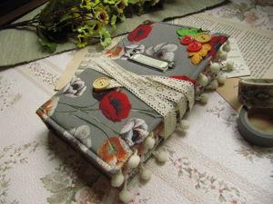 Блокнот Джанкбук с помпонами. Ярмарка Мастеров - ручная работа, handmade.