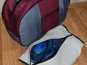 Как сшить мешок для сменной обуви, который удобно носить в спортивной сумке. Ярмарка Мастеров - ручная работа, handmade.