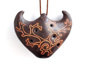 Двухкамерная окарина  «Ловец лесных духов». Ярмарка Мастеров - ручная работа, handmade.