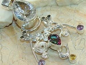 Процесс создания серебряного кулона с камнями. Ярмарка Мастеров - ручная работа, handmade.