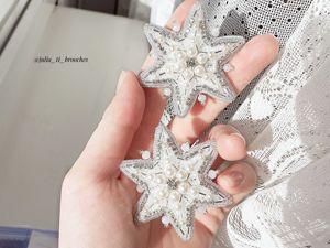 Процесс вышивки снежинок. Ярмарка Мастеров - ручная работа, handmade.