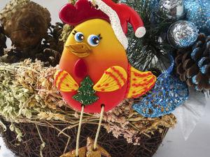 Лепим огненного петушка к 2017 Новому году. Ярмарка Мастеров - ручная работа, handmade.