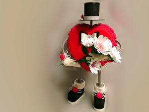 Влюбленное сердце ко дню святого Валентина. Ярмарка Мастеров - ручная работа, handmade.