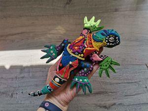 Лепим  из пластилина ящерицу. Ярмарка Мастеров - ручная работа, handmade.
