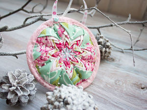 Декоративная подвеска «Рождественская звезда». Ярмарка Мастеров - ручная работа, handmade.