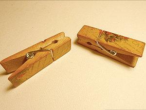 Декор бельевой прищепки. Ярмарка Мастеров - ручная работа, handmade.