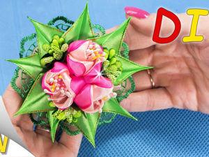 Изготавливаем резиночки с тюльпанами: видео мастер-класс. Ярмарка Мастеров - ручная работа, handmade.