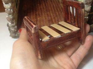 Делаем миниатюрную кроватку для кукольного домика. Ярмарка Мастеров - ручная работа, handmade.