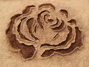 """Мастер-класс по изготовлению валяного панно """"Роза"""". Ярмарка Мастеров - ручная работа, handmade."""