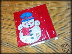 Новогодняя роспись детской футболки «Снеговичок». Ярмарка Мастеров - ручная работа, handmade.
